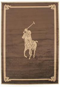 Fashion Ralph Lauren pony rug